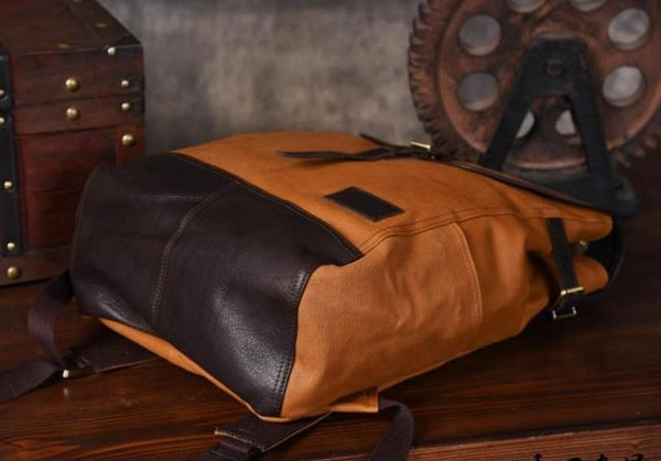 Genuine Leather City Backpack 15