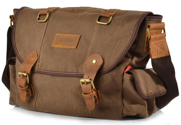 Canvas Leather Messenger Bag