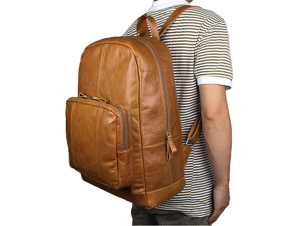 Mens Travel Leather Backpack
