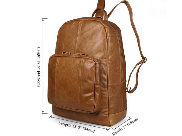 Student Leather Backpack College