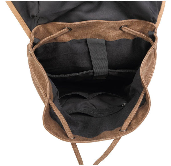 interior lining - Serbags light-brown canvas daypack