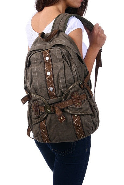 Casual Style Canvas Backpack