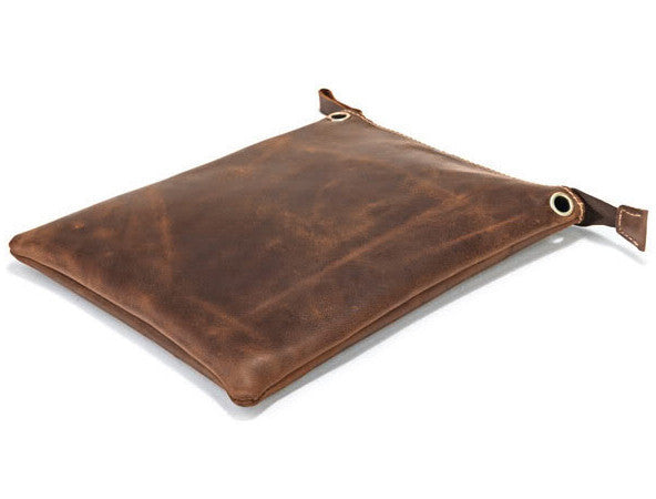 Women Retro Light Brown Notebook Leather Case with Removable Shoulder Strap