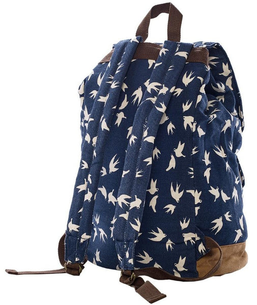 dark blue beautiful school rucksack for girls