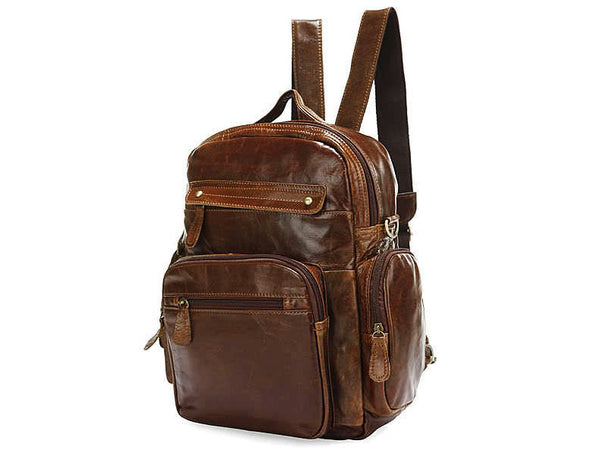 Casual Medium Soft Leather Women Backpack - Serbags  - 2