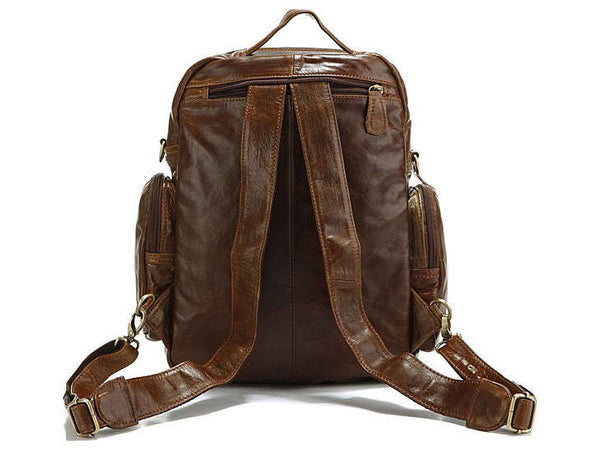 Casual Medium Soft Leather Women Backpack - Serbags  - 4