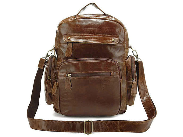 Casual Medium Soft Leather Women Backpack - Serbags  - 3