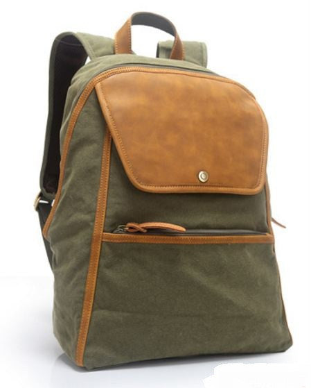 Large School Laptop Backpack Army Green