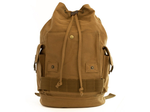 Heavy Duty Canvas School Rucksack with Leather Trims - Serbags  - 9