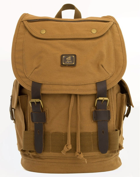 Heavy Duty Canvas School Rucksack with Leather Trims - Serbags - 2