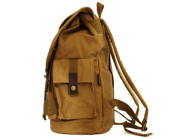 Heavy Duty Canvas School Rucksack with Leather Trims - Serbags  - 7