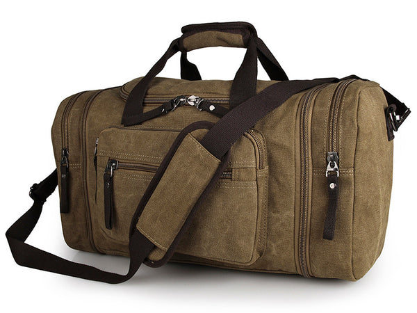 Large  Weekender Canvas Duffle Bag