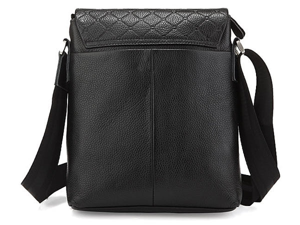 Lattice Design Vertical Leather Bag with Multiple Compartmants