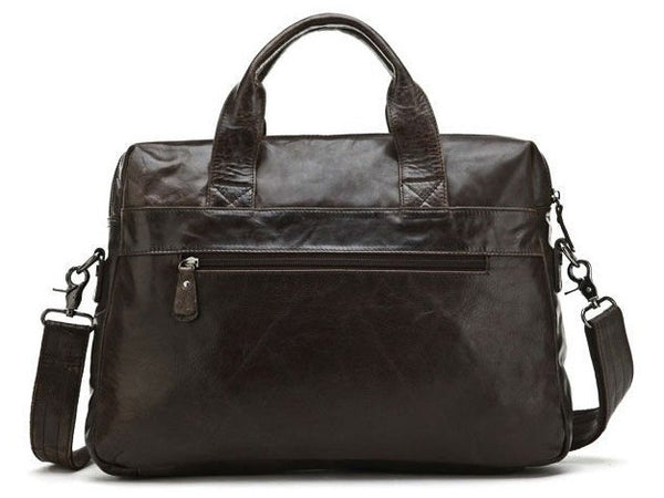 Leather Satchel Handbag Laptop with Multi-Compartments - Serbags  - 7