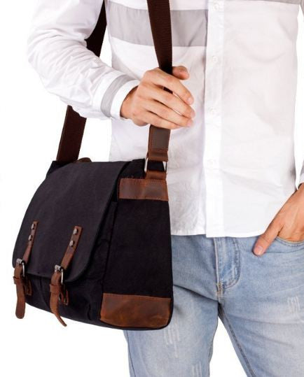 Canvas Waxed Water Resistant Bag with 14