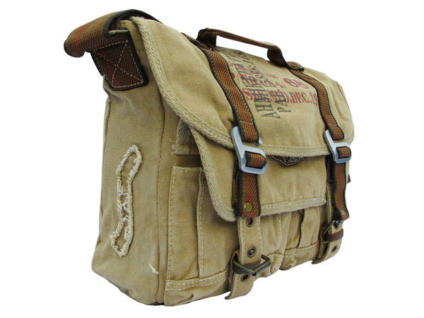Military Canvas Bike Messenger Bag - Larger Version - Serbags  - 3