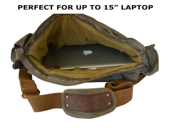 military computer laptop messenger bag