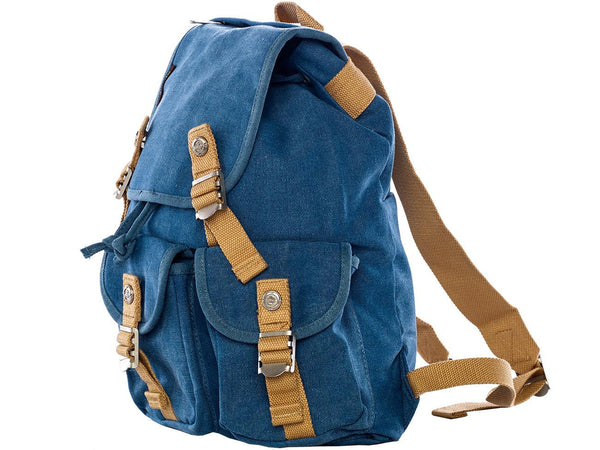 Multi Pocket Canvas Rucksack for School and Outdoor