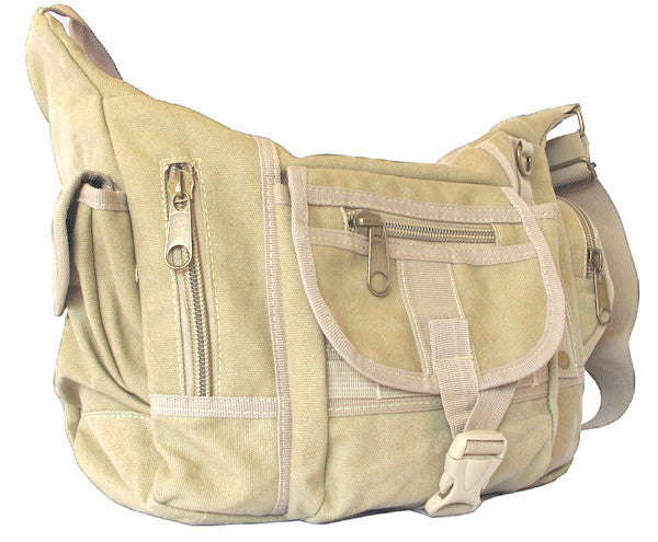 Multi Pocket Shoulder Crossbody Diaper Bag - Serbags  - 2