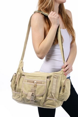 Multi Pocket Shoulder Crossbody Diaper Bag - Serbags  - 4