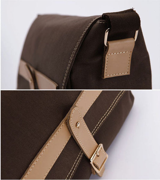 Preppy Cross Body Canvas Brown - Serbags  - 8
