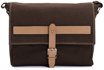 Preppy Cross Body Canvas Brown - Serbags  - 1