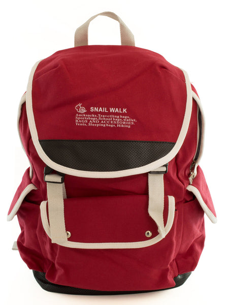 Cute Canvas Backpack for Girls - Red - Serbags  - 3