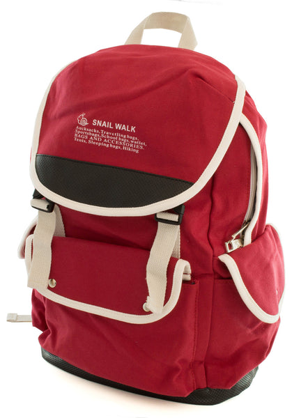 Cute Canvas Backpack for Girls - Red - Serbags  - 4