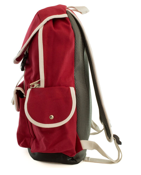 Cute Canvas Backpack for Girls - Red - Serbags  - 7