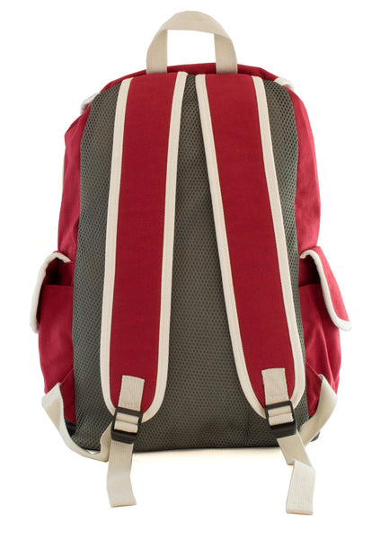 Cute Canvas Backpack for Girls - Red - Serbags  - 6