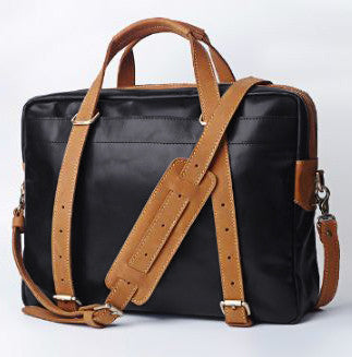 Urban Leather Brief Top Zip Workbag