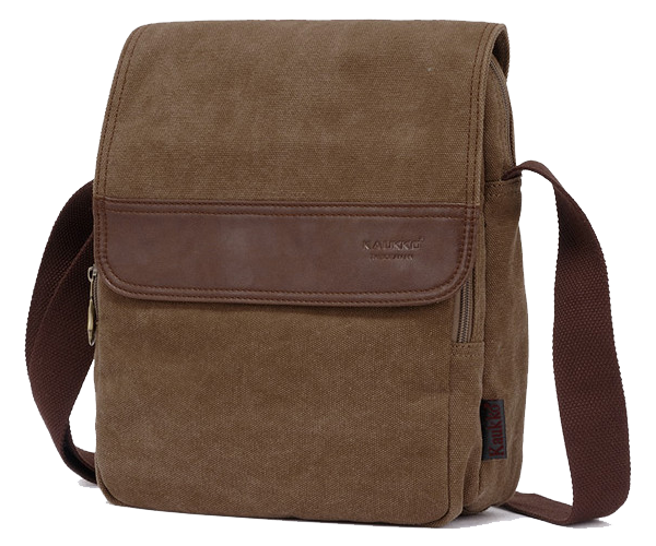 Vertical Canvas Shoulder Messenger Bag - Serbags  - 1