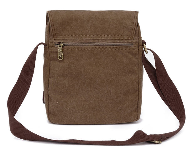 Vertical Canvas Shoulder Messenger Bag - Serbags  - 4