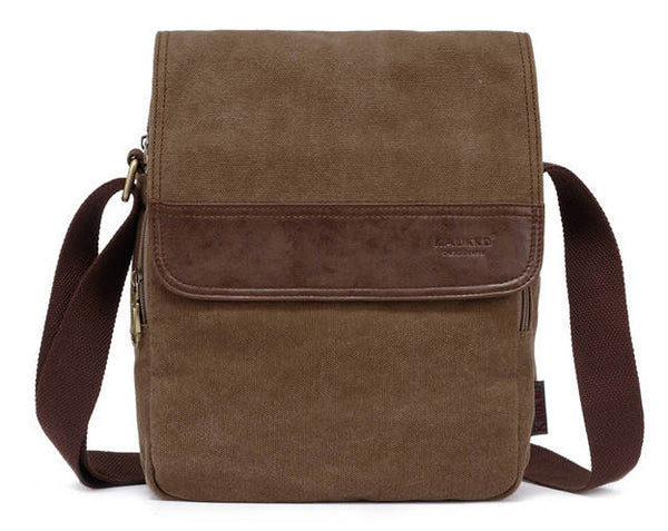Vertical Canvas Shoulder Messenger Bag - Serbags  - 2