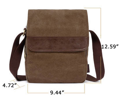 Vertical Canvas Shoulder Messenger Bag - Serbags  - 3