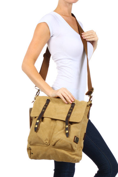 Vintage Inspired Canvas Shoulder Bag - Serbags  - 7