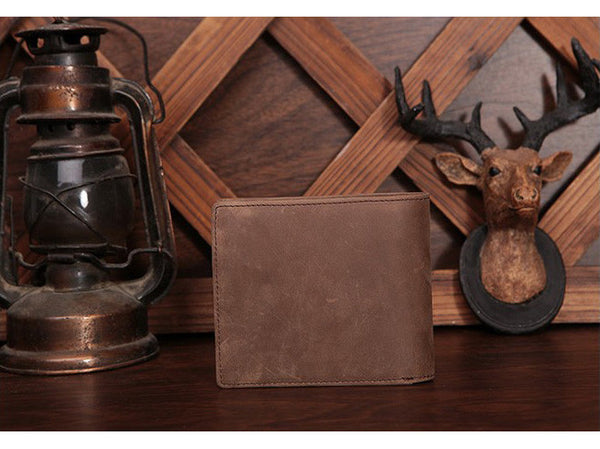Slim Wallet Genuine Leather Vintage - Serbags  - 11