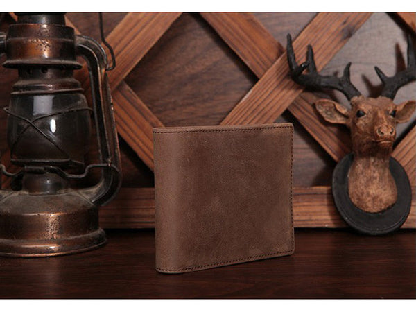 Slim Wallet Genuine Leather Vintage - Serbags  - 13