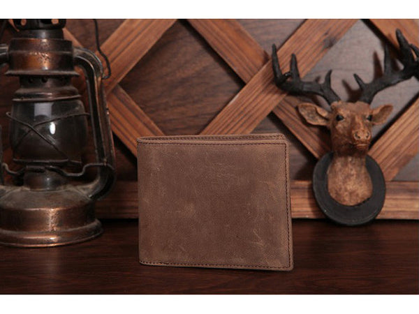 Slim Wallet Genuine Leather Vintage - Serbags  - 14