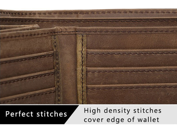 Slim Wallet Genuine Leather Vintage - Serbags  - 8