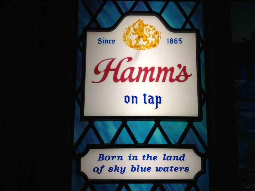Hamm's Vintage Beer Sign Restoration finished