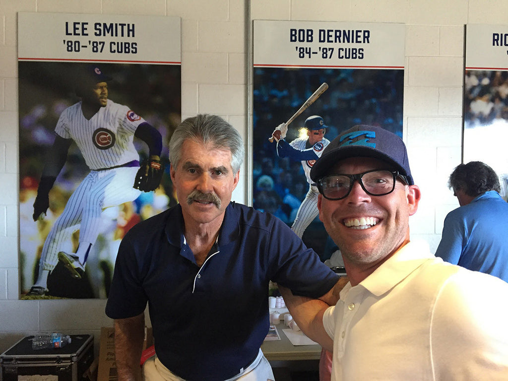Photo of Cub's Legend Bill Buckner at Sloan Park in Mesa, Arizona. Chicago Cubs Spring Training.
