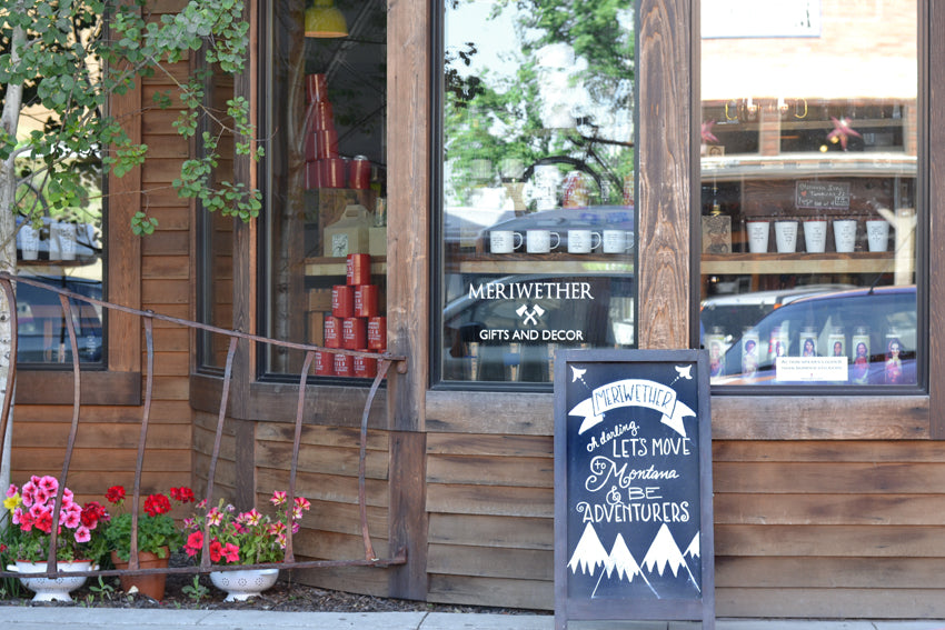 Photo of exterior of our retail gift store in Whitefish, Montana