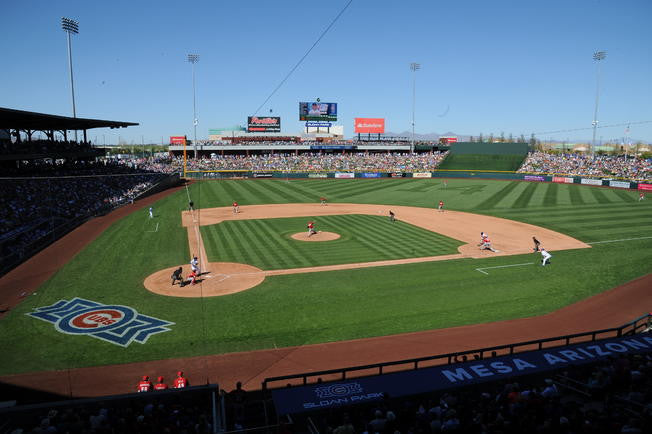 photo of sloan park in mesa, arizona home of the chicago cubs spring training
