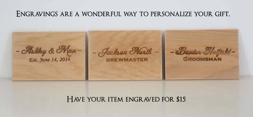Engraved gifts. Personalized gifts. Monogrammed gifts.