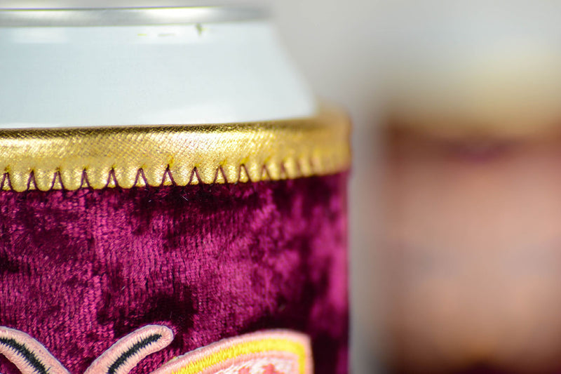 Girls rule. Boys Drool... Velvet Beer Koozie