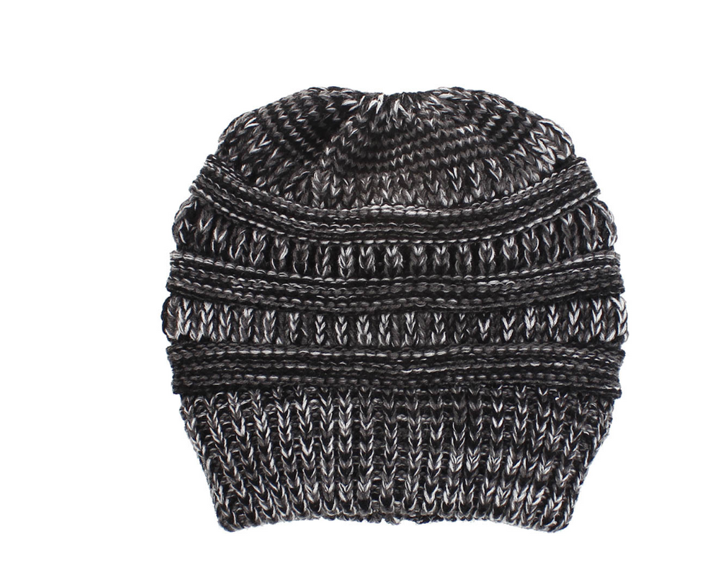 Ponytail Beanie Hat™ for Messy High Buns (Knitted Wool)