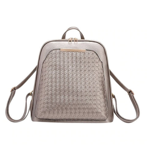 Crosshatch Vegan Leather Purse Backpack