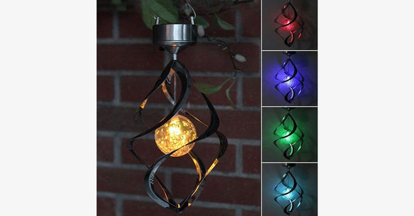LED Solar Powered Color Changing Light Wind Chime