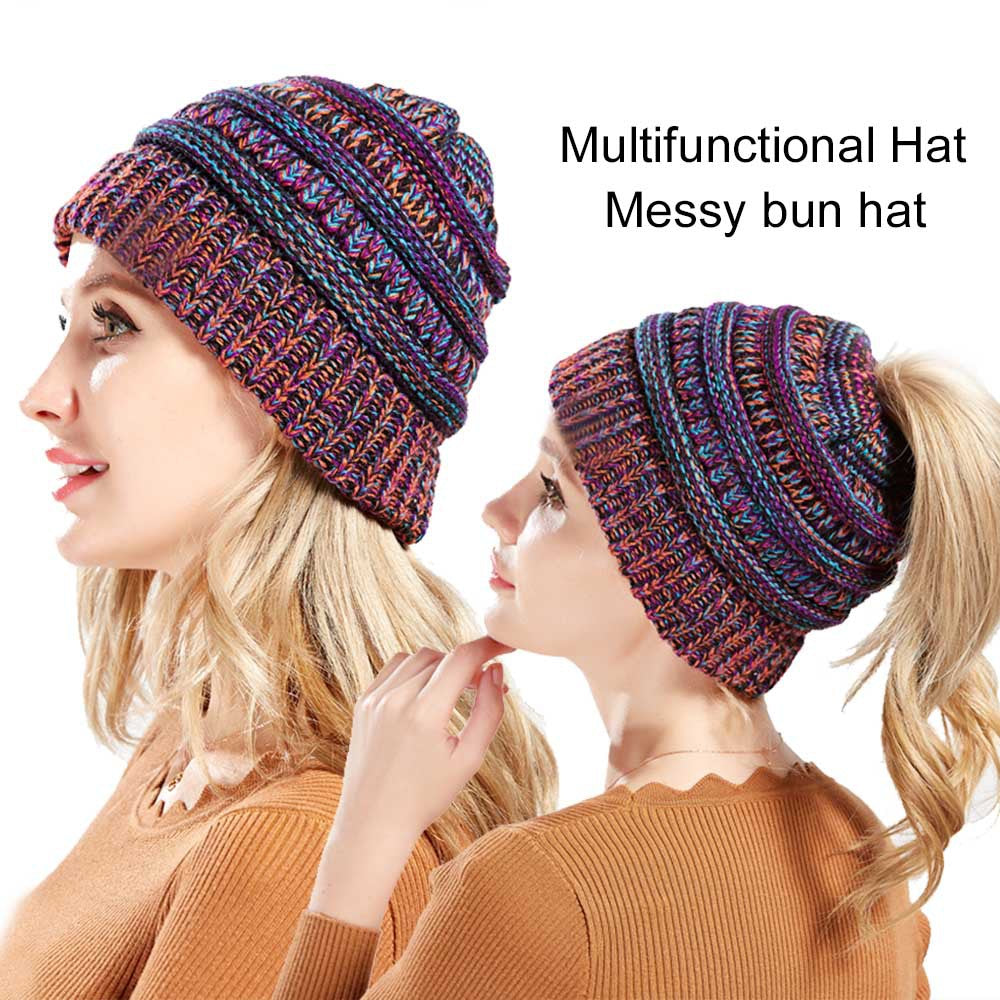 Pony Tail Beanie Hat